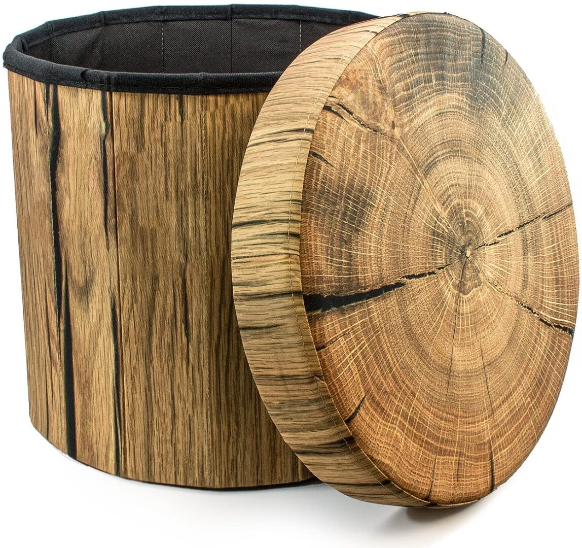 log storage ottoman