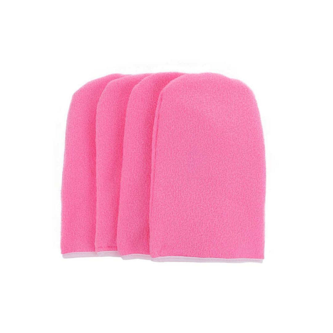 2021 2 Pair Terry Cloth pink mittens