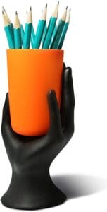 2021 black hand w:orang cup pencil holder